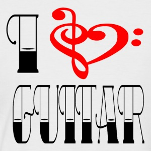 I LOVE GUITAR - Männer Baseball-T-Shirt