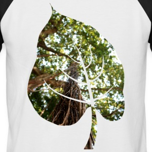Leaf in tropical forest - Men's Baseball T-Shirt