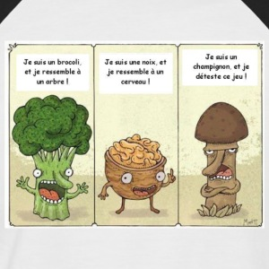 Joke between vegetables - Men's Baseball T-Shirt