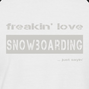 love SNOWBOARDING - bright T-shirt - Men's Baseball T-Shirt