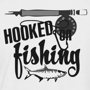 Hooked on Fishing - Fishing - Men's Baseball T-Shirt
