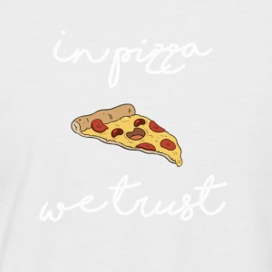 In pizza we trust - Men's Baseball T-Shirt