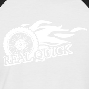 Motorcycle Very fast - Men's Baseball T-Shirt
