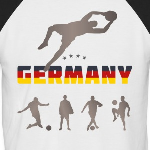 Football Germany tor team sport fun socce - Men's Baseball T-Shirt
