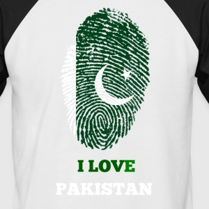 I LOVE PAKISTAN - Männer Baseball-T-Shirt