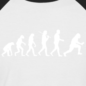 Football Evolution - Männer Baseball-T-Shirt