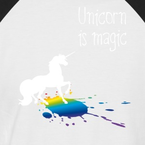 unicorn unicorn magic rainbow stain funny girl - Men's Baseball T-Shirt