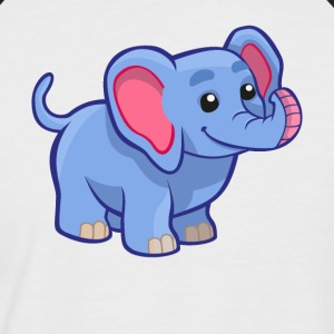 Douce Elephant - conception T-shirt - T-shirt baseball manches courtes Homme