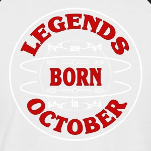Birthday October legends born gift birth - Men's Baseball T-Shirt