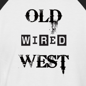 Old wired west Black - Men's Baseball T-Shirt