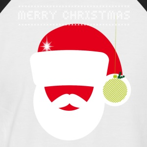 Christmas market large knitting irony Retro Party fun - Men's Baseball T-Shirt