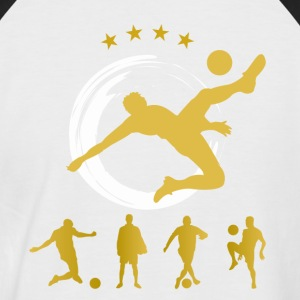 Soccer Goal Football Star Ball Champion du Monde dynamis - T-shirt baseball manches courtes Homme