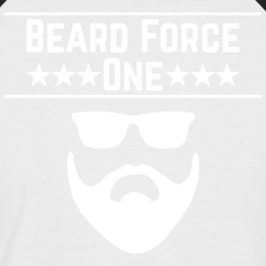 Beard Force One - Männer Baseball-T-Shirt