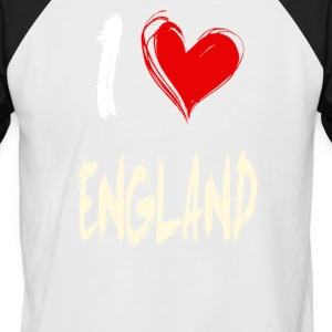 I love england - Men's Baseball T-Shirt
