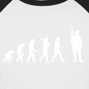 Evolution Soldier! Soldier! Warrior! Warrior! army - Men's Baseball T-Shirt