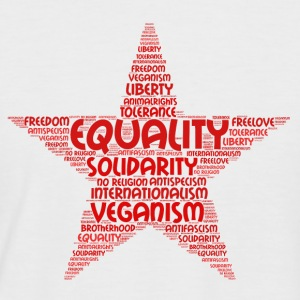 veganism word cloud 2 - Men's Baseball T-Shirt