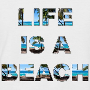 Life is a beach - Men's Baseball T-Shirt