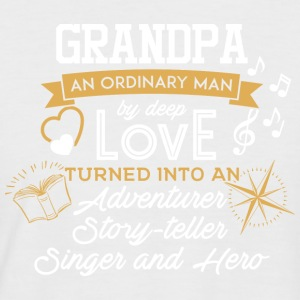 Grandpa - An Ordanary Man - Männer Baseball-T-Shirt