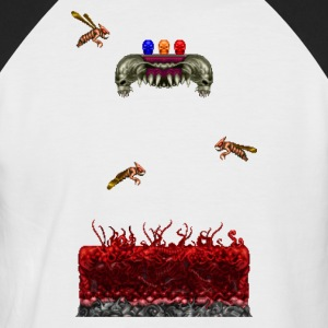 Pixelart Horror Game Scene - Men's Baseball T-Shirt
