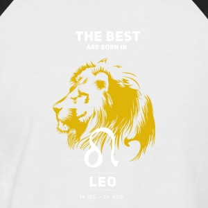 Leo zodiac horoscope signs July Gold Birthday - Men's Baseball T-Shirt