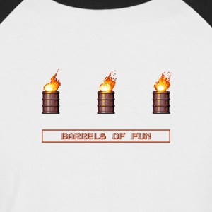 Pixel Flaming barils explosifs - T-shirt baseball manches courtes Homme