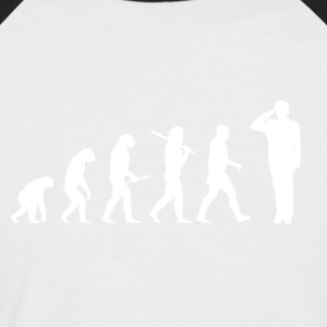 Evolution Navy! Military! Army! - Men's Baseball T-Shirt
