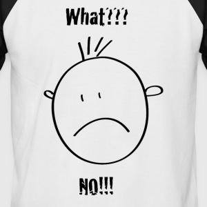 smilie ... what?? no!! - Männer Baseball-T-Shirt