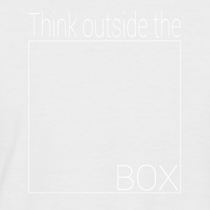 Think outside the box - Men's Baseball T-Shirt