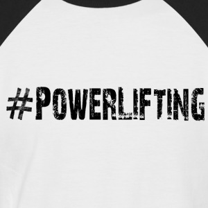 Powerlifting - Men's Baseball T-Shirt