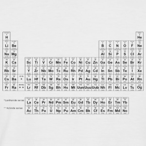 Periodic Table black - Men's Baseball T-Shirt