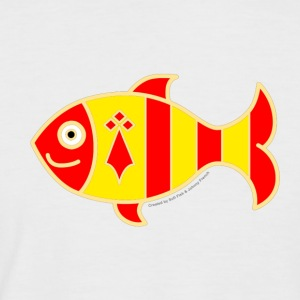 Sardine Bigoudène by Sofi Fish and Johnny French - Men's Baseball T-Shirt