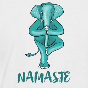 elephant-namaste yoga meditation tree ganesha ohm - Men's Baseball T-Shirt