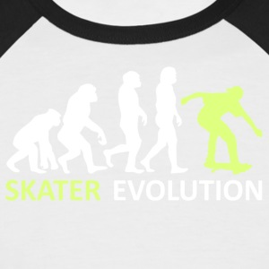 ++ ++ Skater Evolution - Kortermet baseball skjorte for menn