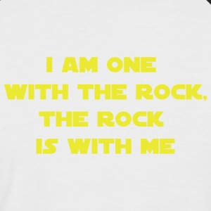 One with the rock - Men's Baseball T-Shirt