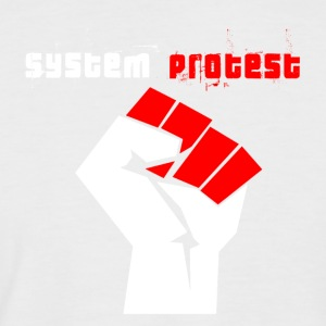 system protest - Men's Baseball T-Shirt