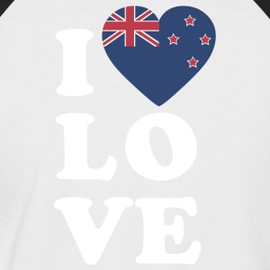 I love New Zealand - Männer Baseball-T-Shirt