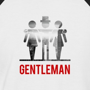 Gentleman with 2 Ladies - Men's Baseball T-Shirt