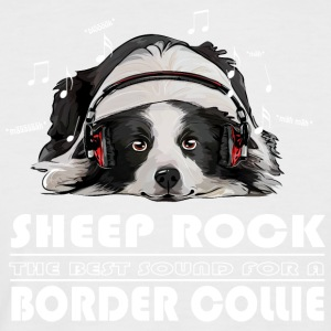 BORDER COLLIE SHEEP ROCK - Männer Baseball-T-Shirt