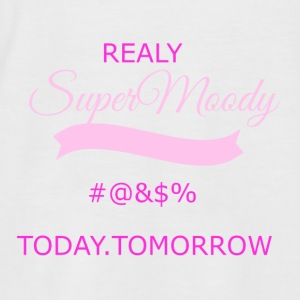 super moody transparent - Men's Baseball T-Shirt