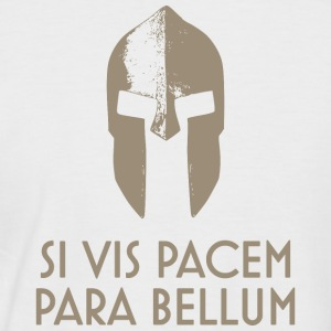 Spartan Helm latin motto Si Vis Pacem Para Bellum - Men's Baseball T-Shirt