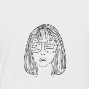 Woman with glasses - Men's Baseball T-Shirt