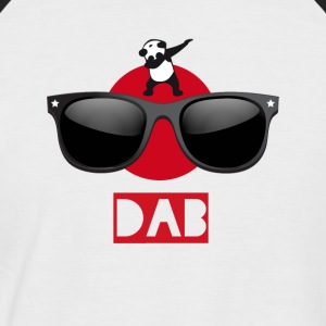 Panda sun dab it dabbing Dance Football touchdown - Men's Baseball T-Shirt