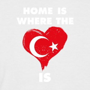 Home is where your heart is Turkey - Men's Baseball T-Shirt