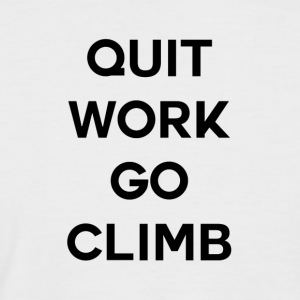 QUIT WORK GO CLIMB - T-shirt baseball manches courtes Homme