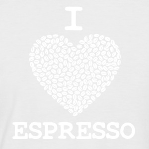 Coffee Mug I LOVE ESPRESSO - Men's Baseball T-Shirt
