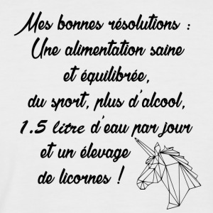 MES BONNES RESOLUTIONS - T-shirt baseball manches courtes Homme