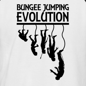 Bungee Jumping Evolution - Men's Baseball T-Shirt