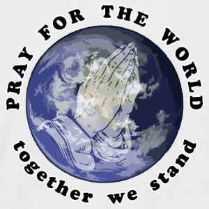 Pray For The World - Männer Baseball-T-Shirt