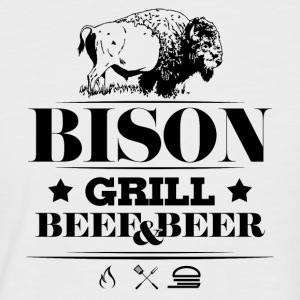 Grill · Barbecue · Bison - T-shirt baseball manches courtes Homme