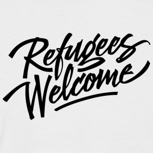 refugees welcome - Männer Baseball-T-Shirt